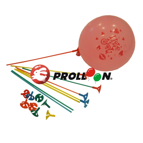 "CL-101 15"" - 38 cm Balloon Sticks and Holder"